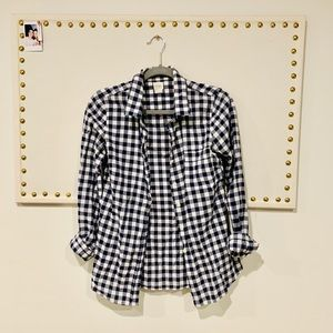 J. Crew Checkered Button Up Shirt
